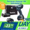 Offre OneDay sur la perceuse visseuse Makita DDF456SP1F
