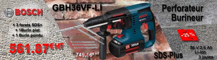 Perforateur Bosch GBH36VF-LI