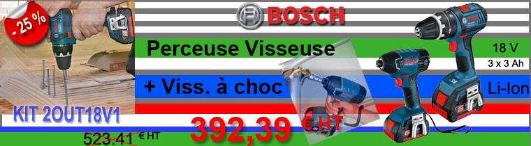 Perceuse Visseuse Bosch KIT2OUT18V1