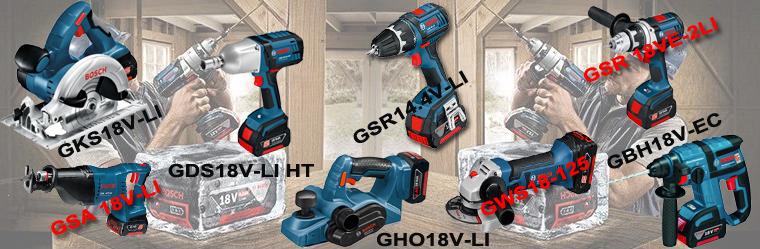 Outils Bosch pros avec batteries 4AH