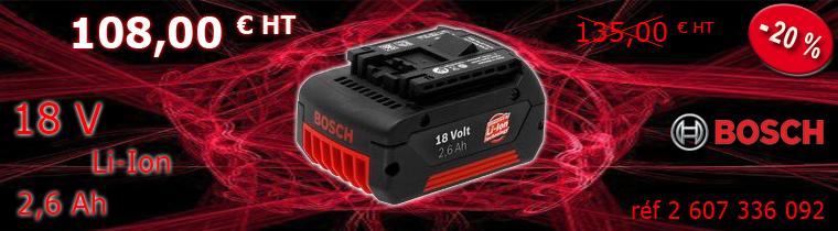 Batterie Bosch 2.6 Ah