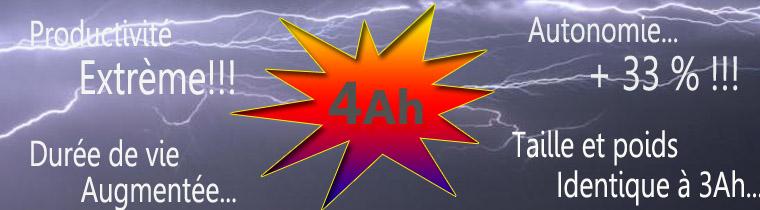 Avantages batteries 4Ah