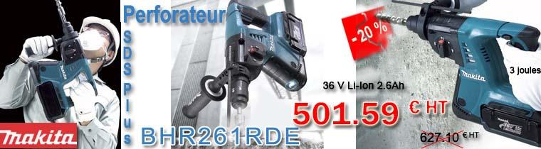 Perforateur SDS Plus Makita BHR261RDE