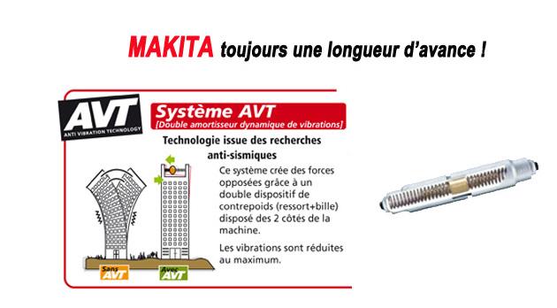système anti vibration Makita