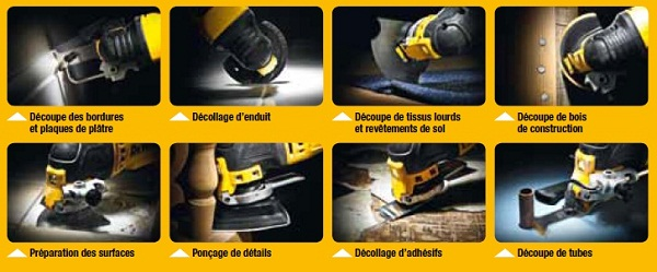 Applications de finitions Multi-Cutter DeWALT