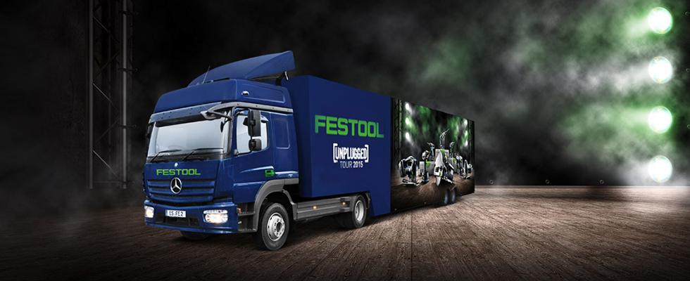 camion de démonstration festool Roadshow 2015