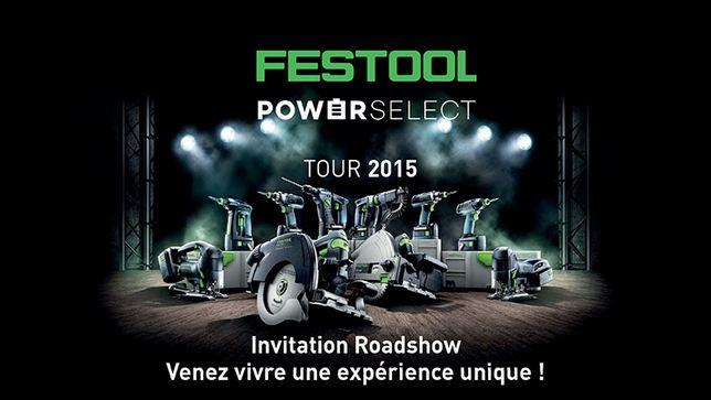 Roadshow Festool 2015, l'équipe rend visite à Guedo outillage à Saint-Avé dans le département du Morbihan