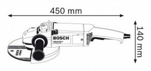 plan détaillé de la meuleuse bosch gws 20-230h