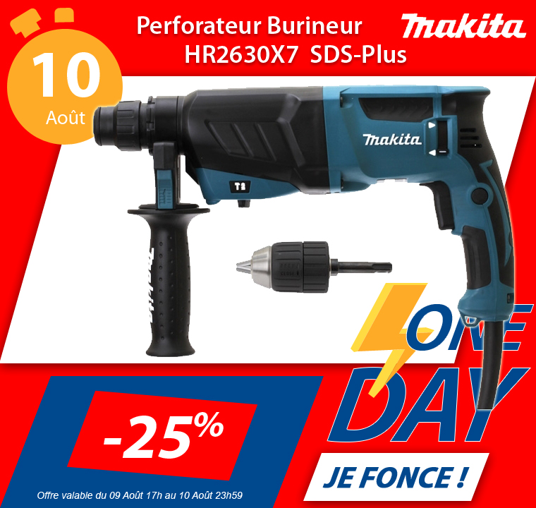 MAKITA Perforateur burineur 800W Sds plus en vente flash chez Guédo