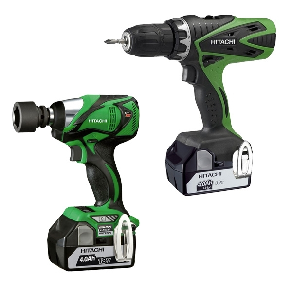 HITACHI pack Boulonneuse + Perceuse visseuse 18 V - KC18WRDS