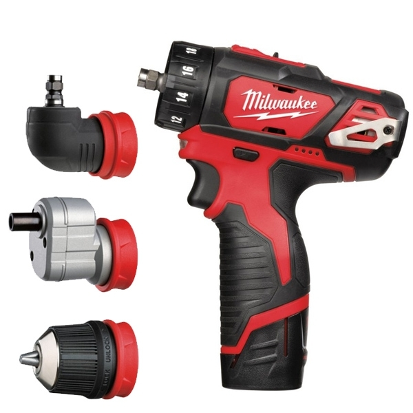 MILWAUKEE Perceuse Visseuse 4 en 1 - M12 BDDXKIT-202X