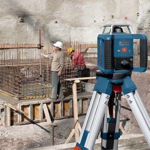BOSCH Laser rotatif auto H portée Ø 400 m - GRL400H 0601061800 sur un chantier