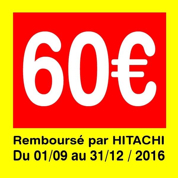 Offre de remboursement de 60€ jusqu'au 31 Décembre 2016