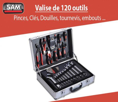 Test de la valise 120 pièces VMDS120 de chez SAM
