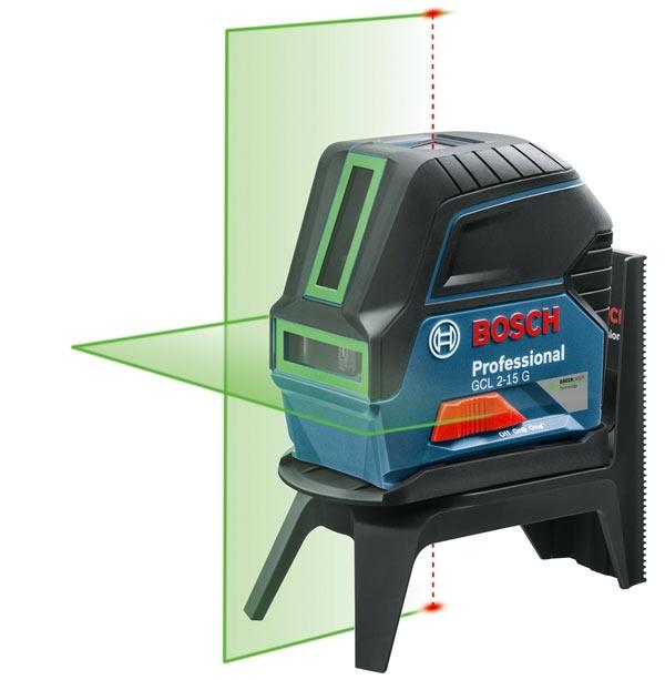 BOSCH Laser croix Vert portée 15m GCL2-15G
