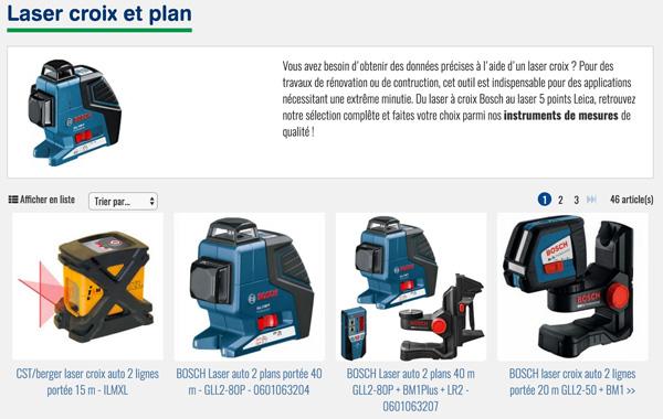 Laser Croix et Plan