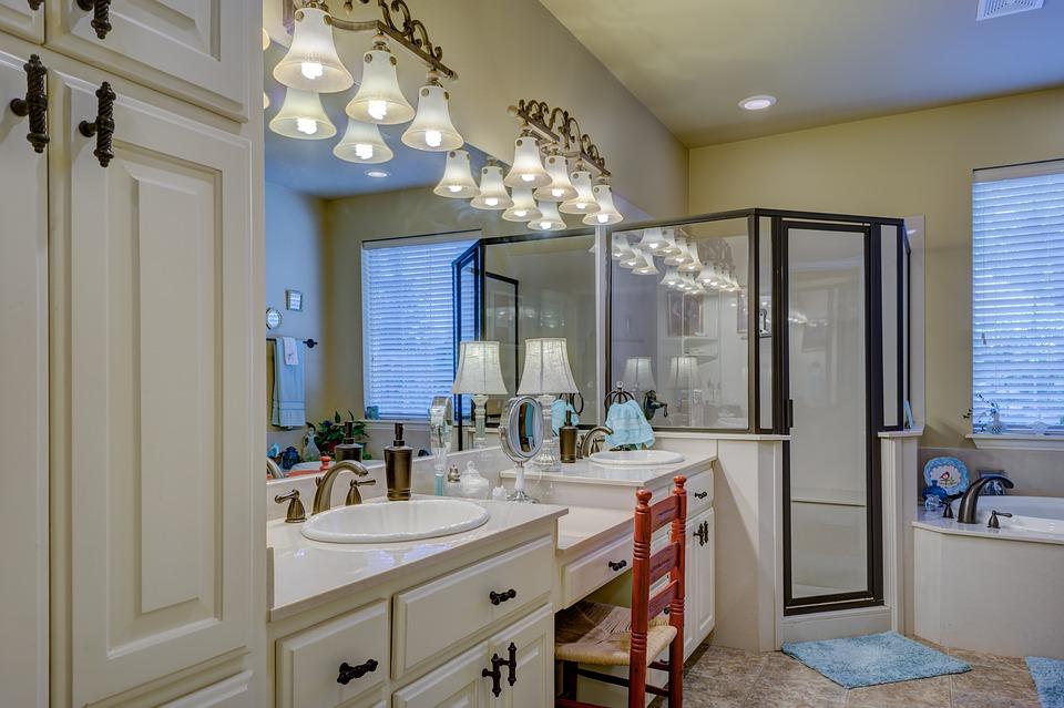 lumières et spots salle de bains
