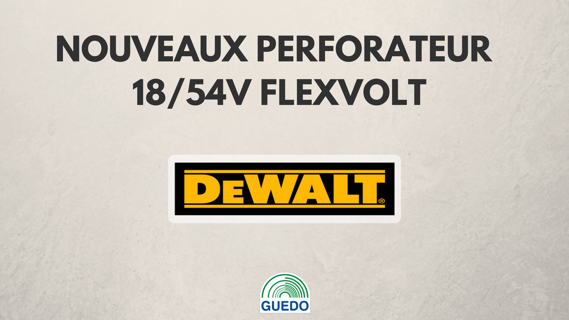 Guedo dewalt perforateur
