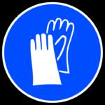 Panneau port des gants obligatoire