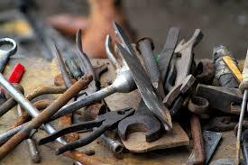 outils rouillés