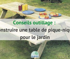 Construire une table de pique-nique pour le jardin