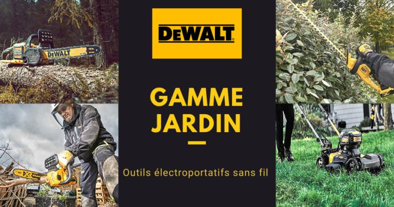 Dewalt : gamme d'outils sans-fil pour le jardin
